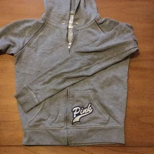 PINK peace sign hoodie